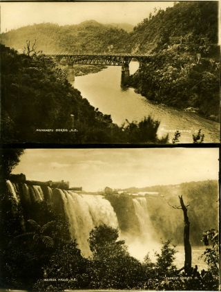 Real silver tone photographs of New Zealand. Postcards, New Zealand
