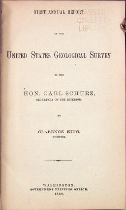 First Annual Report of the United States Geological Survey to the Hon. Carl Schurz, Secretary of the Interior.