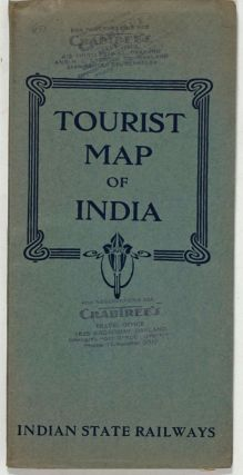 Tourist Map of India. Indian State Railways. Travel brochure, India