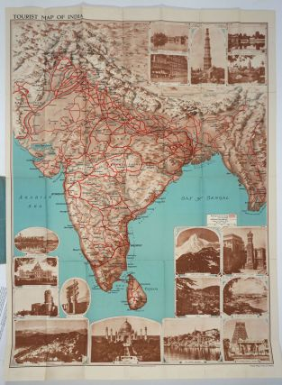 Tourist Map of India. Indian State Railways.