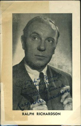 Ralph Richardson, Meriel Forbes, Sybil Thorndike, Lewis Casson, Signed programme 'Separate...