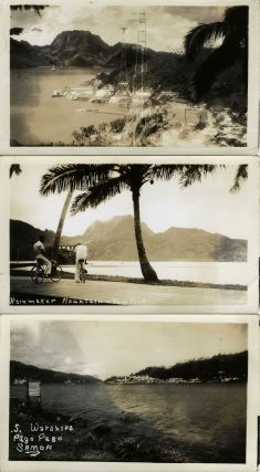 "World War II era Real Photographs of Samoa, including one, ""High Talking Chief"" and the destroyer USS Tucker."
