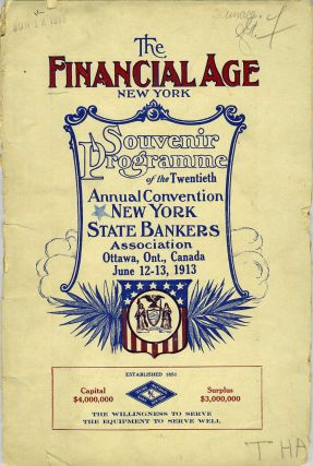 Souvenir Programme of the Twentieth Annual Convention New York State Bankers Association, Ottawa,...
