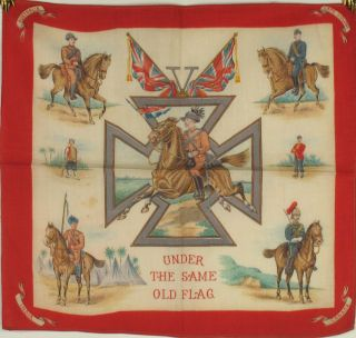 Under the Same Old Flag - Souvenir kerchief of the Boer War. Souvenir kerchief.