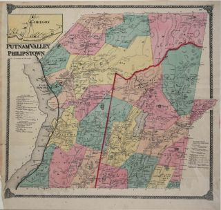 Putnam Valley and Philipstown. Map. Frederick Beers