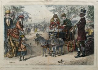 Taking the Reins - A Familiar Scene in Central Park. New York City, Arthur Lumley