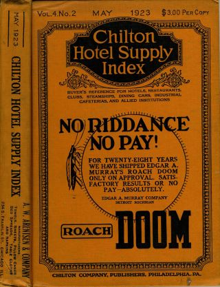 Chilton Hotel Supply Index. Roach DOOM! No Riddance No Pay!