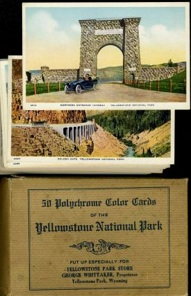 Set of 50 Polychrome Color Cards of the Yellowstone National Park. Yellowstone National Park,...
