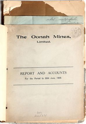 Tasmanian Mining Reports; Anchor Tin Mine, Jonah Mines, Mt. Bischoff Tin Mine, Mount Lyle Mining & Railway Company, Mount Lyle Cosmetic Copper Company.