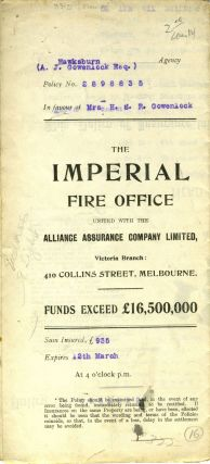 The Imperial Fire Office united with The Alliance Assurance Company Ltd. - Victoria Branch,...