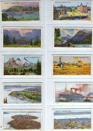 Canada cigarette card collection. Canada, Imperial Tobacco Co Wills's Cigarettes