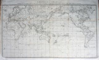 A General Chart Exhibiting the Discoveries made by Captn James Cook in this and his two preceding...