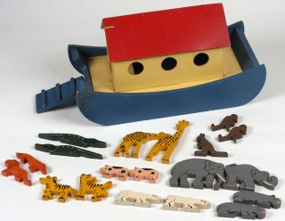 Vintage Noah's Ark and Animals by Tiger Toys of Petersfield, UK. Childrens, Ark