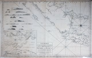 A Chart of the South Part of Sumatra and of the Straits of Sunda and Banca. With Gaspar Straits. Corrected and Improved from the Observations of Capt. Josh. Huddart, Capt. John Hall and Capt. Henry Smedley. Indonesia, Laurie, Whittle.