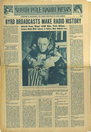 South Pole Radio News. Richard Evelyn Byrd, Admiral.
