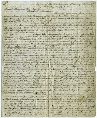 Philadelphia and Reading Railroad Company, letter including condensed balance sheet, August 1840,...