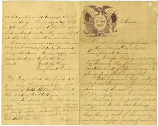 Civil War autograph letter from Union soldier at the Battle of Bowling Green, dated December 30th 1861 from Munfordville, Kentucky. Civil War.