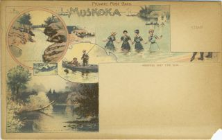 Muskoka. Shadow River and South Falls, Ontario Canada. Private Post Card. Postcard, Canada