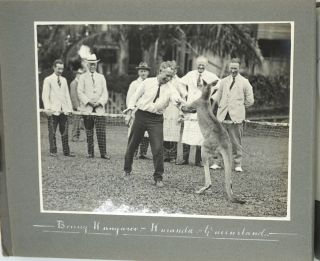 Souvenir of the visit to Australia of the Empire Parliamentary Delegation, 1926 made up of mounted photographs.