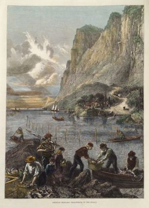 American Sketches: Shad-Fishing on the Hudson. Hudson River