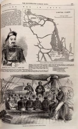 China and India as illustrated in the Illustrated London News, 5 complete half yearly volumes from 1858 through 1860.