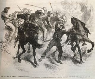 The American Civil War as illustrated in The Illustrated London News, in the year 1861.