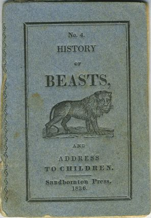 Children's History of Beasts, Advice, and Select Hymns No. 4. Kangaroo, Children's chapbook