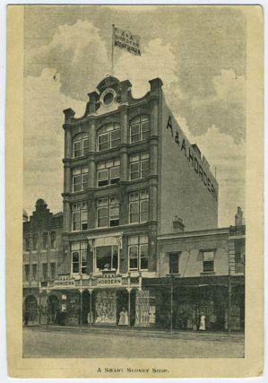 A Smart Shop in Sydney (postcard showing A & A Hordern building). Australia, Sydney