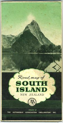 The Automobile Association (Wellington) Inc. Touring Map of South Island New Zealand. New Zealand