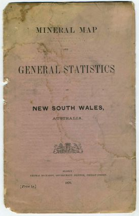 Mineral Map and General Statistics of New South Wales, Australia. Map in self wrapper....