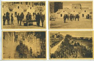 The Duke of Connaught's Visit to Jerusalem. 4 Postcards