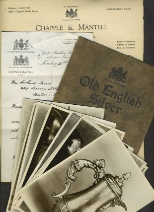 Old English Silver, Chapple & Mantell Silversmiths & Goldsmiths. Trade catalogue with original...