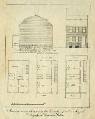 New York Architectural Rendering, Residential Building. Lithograph