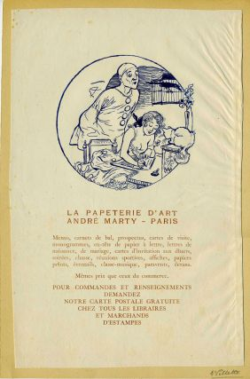 Broadside: La Papeterie d'Art Andre Marty - Paris. Adolphe Willette