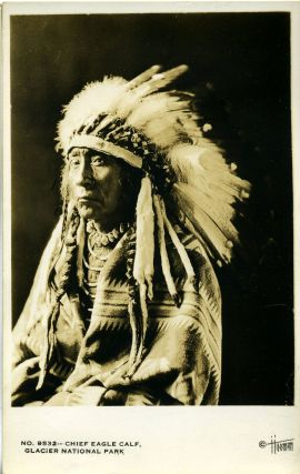 Chief Eagle Calf Real-Photo Postcard from Glacier National Park. Tomer J. Hileman