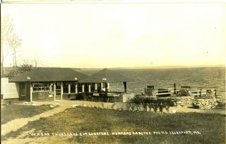 Where Thousands Eat Lobsters, Parkers Lobster Pound, Searsport, ME - Real Photo Postcard