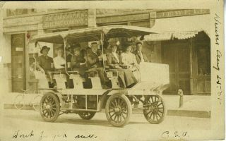 Early Electric Car, Carstarphen Electric Company, Real-Photo Postcard