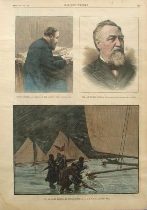 The Ice Yacht Regatta at Poughkeepsie; Thomas Chenery, Late Editor of the London Times; Late...