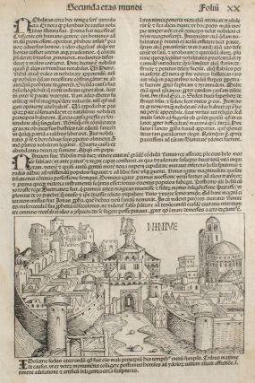 Ninevah in the Liber chronicarum- Nuremberg Chronicle, an individual page from the Chronicle...