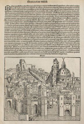 Metz, France in the Liber chronicarum- Nuremberg Chronicle, an individual page from the Chronicle...