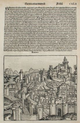 Ravenna, Italy in the Liber chronicarum- Nuremberg Chronicle, an individual page from the...