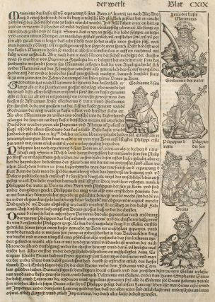 Liber chronicarum- Nuremberg Chronicle, an individual page from the Chronicle featuring Emporer...