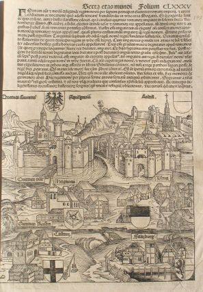 Liber chronicarum- Nuremberg Chronicle, an individual page from 1493, Salzburg & Coblenz, Plate...