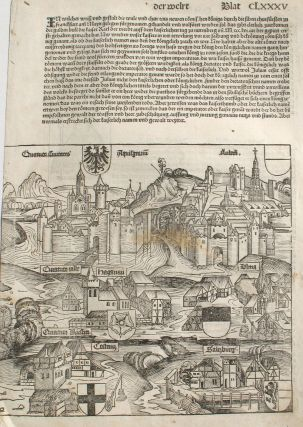 Salzburg, Austria in the Liber chronicarum- Nuremberg Chronicle, an individual page from from...