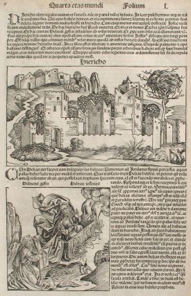Liber chronicarum- Nuremberg Chronicle, an individual page from the Chronicle featuring the City...