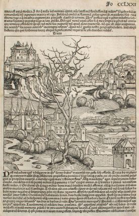 Thrace and Turkey, from the Nuremberg Chronicle. Woodblock. Hartmann Schedel, Michel Wolgemuth,...