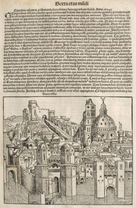 Liber chronicarum- Nuremberg Chronicle, an individual page from the Chronicle featuring Nicea or...