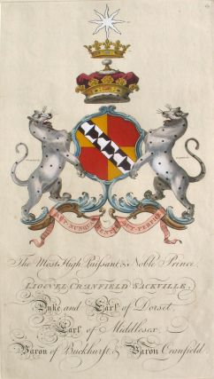 Family Crest of The Most High, Puissant & Noble Prince, Lionel Cranfield Sackville, Duke and Earl...