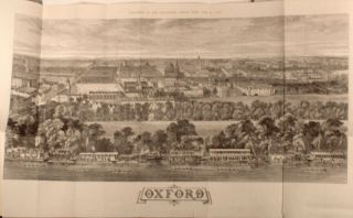 Large folding panorama of Oxford; also colonial India, China and Ireland as illustrated in the...
