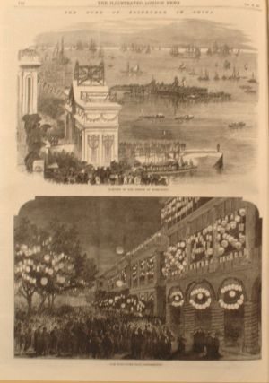 Large folding panorama of Oxford; also colonial India, China and Ireland as illustrated in the Illustrated London News, January to June 1870.